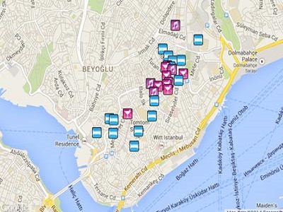 Istanbul Gay Map